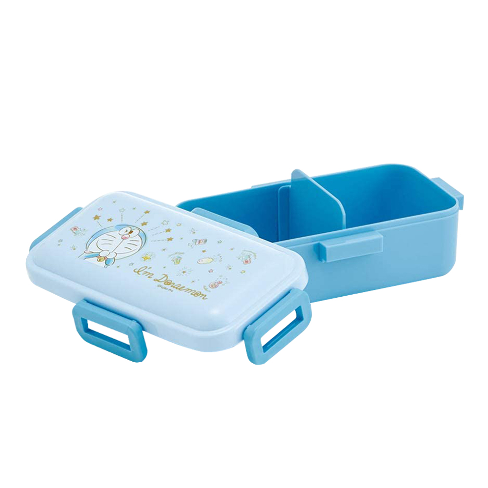 Skater|哆啦A夢 便當盒 保鮮餐盒 抗菌加工 530ML-粉藍哆啦A夢