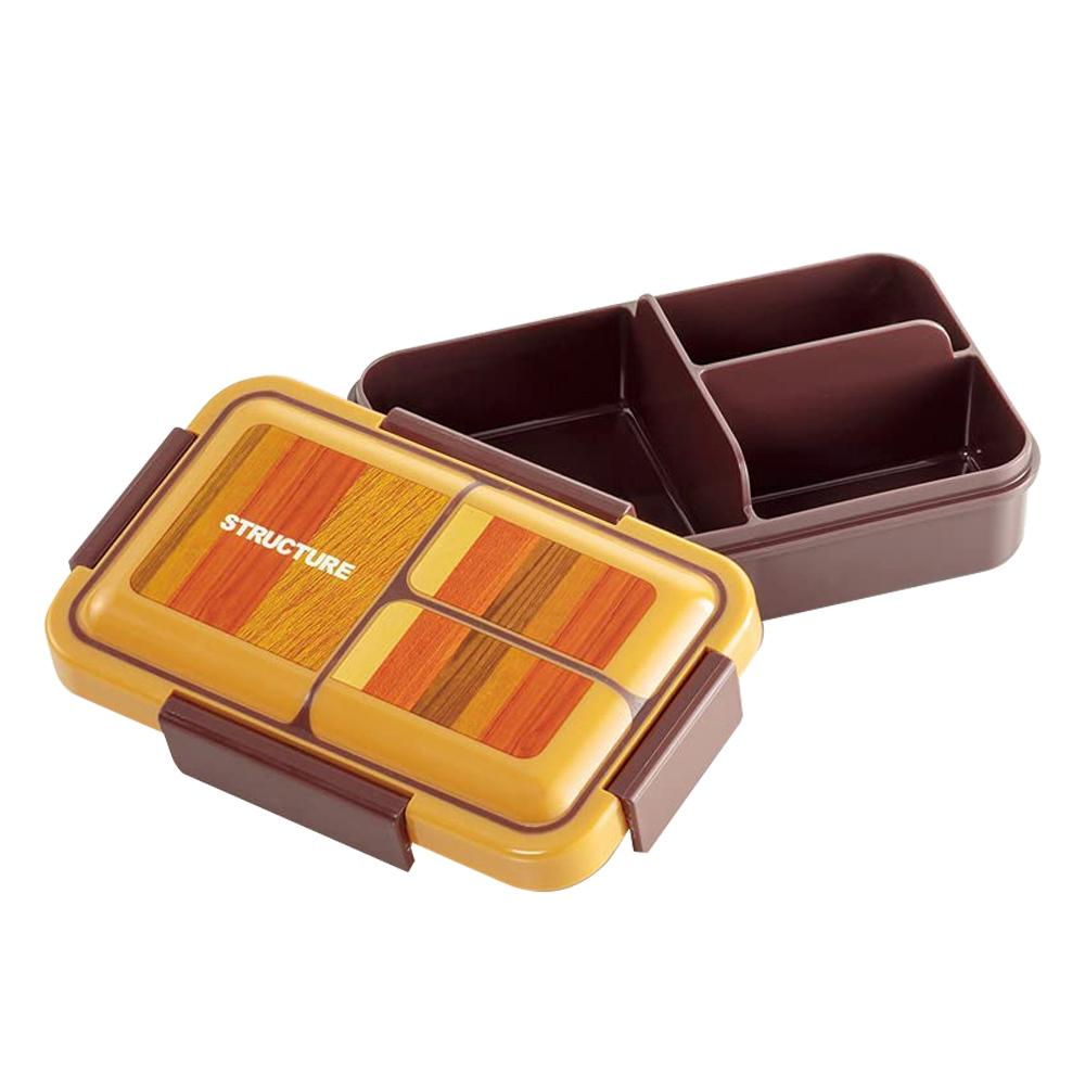Skater|元素質感系列 便當盒 保鮮餐盒 抗菌加工 550ML-木紋風