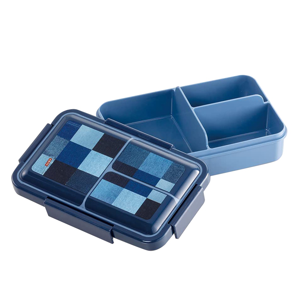 Skater|元素質感系列 便當盒 保鮮餐盒 抗菌加工 850ML-牛仔風