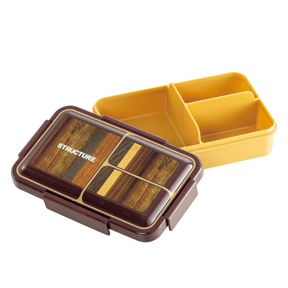 Skater|元素質感系列 便當盒 保鮮餐盒 抗菌加工 850ML-木紋風