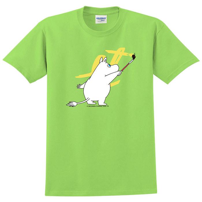 (複製)YOSHI850|Moomin嚕嚕米正版授權:T恤【愛畫畫的Moomin】成人短袖 T-shirt