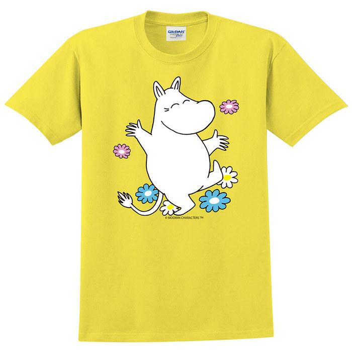 (複製)YOSHI850|Moomin嚕嚕米正版授權:T恤【Let's Go】成人短袖 T-shirt
