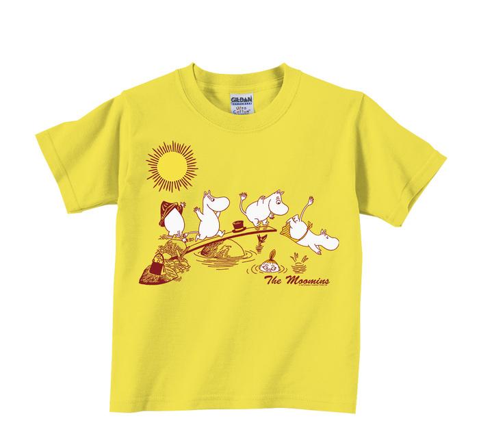 (複製)YOSHI850|Moomin嚕嚕米正版授權:T恤【悠閒】兒童短袖 T-shirt