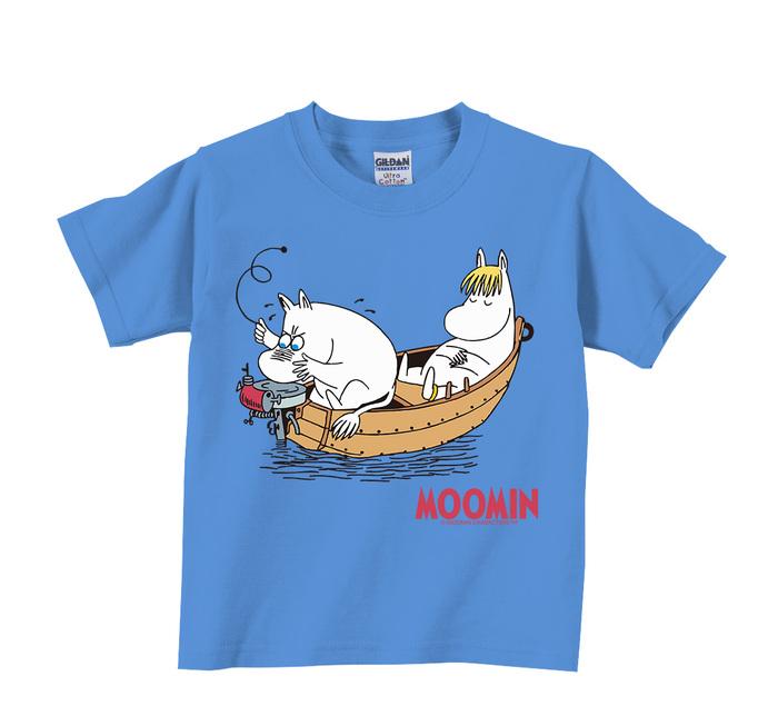 (複製)YOSHI850|Moomin嚕嚕米正版授權:T恤【夏日海灘】兒童短袖 T-shirt