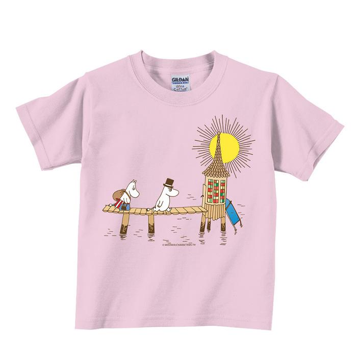 (複製)YOSHI850|Moomin嚕嚕米正版授權:T恤【害羞的Moomin】兒童短袖 T-shirt