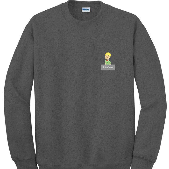 (複製)YOSHI850|經典小王子正版授權:大學T【第七個星球地球】成人長袖 T-shirt (石楠灰)