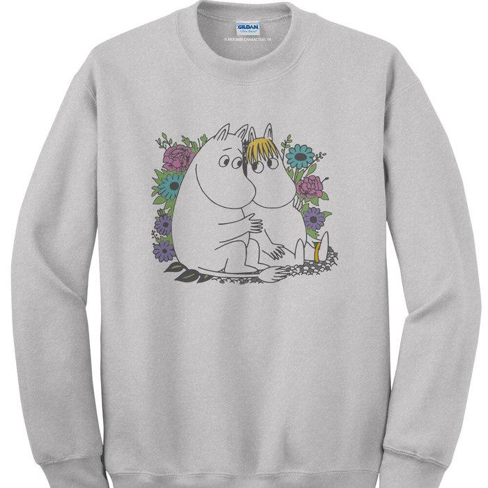 (複製)YOSHI850|Moomin嚕嚕米正版授權:大學T【仲夏之夜】成人長袖 T-shirt (寶石藍)