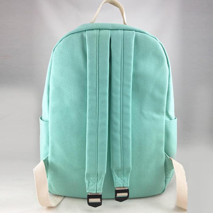 YOSHI850|新創設計師 - 沒個性星人Roo:拉鍊後背包【淺綠】