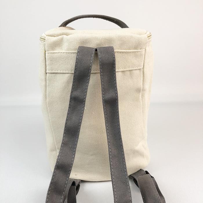 YOSHI850 小王子經典版授權:方筒拼色後背包【灰】(親子包-大款)