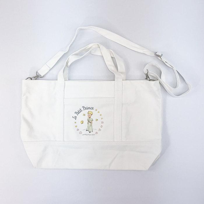 (複製)YOSHI850|小王子經典版授權:大口袋購物包【01白】
