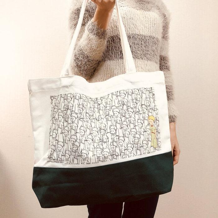(複製)YOSHI850|小王子經典版授權:日系風購物包【01白】