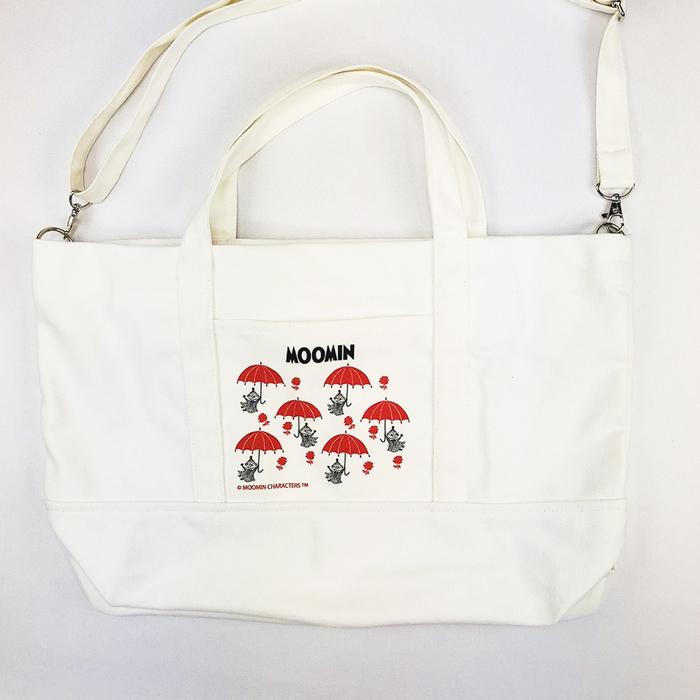 YOSHI850|嚕嚕米正版授權:日系風購物包【01白】