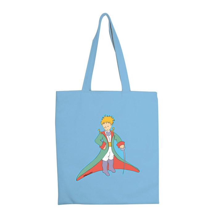 YOSHI850|小王子經典版授權:手提購物包【溫柔的審判官(水藍) 】