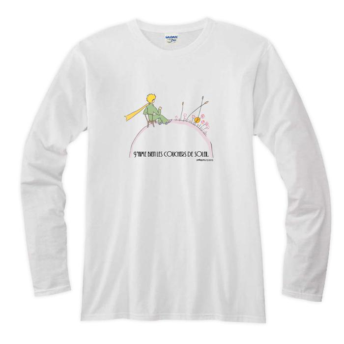 YOSHI850|小王子電影版授權【小王子的愛戀】短袖修身T-shirt(水藍)