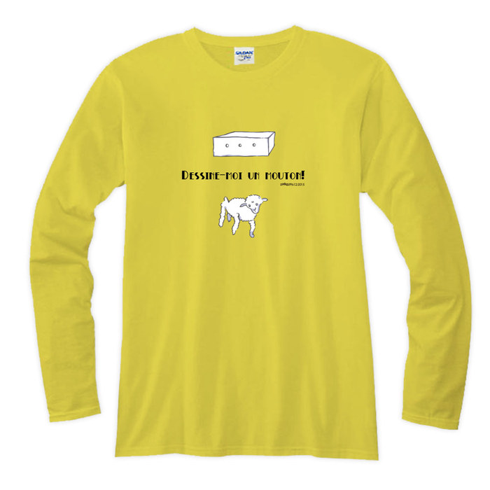 (複製)YOSHI850|小王子電影版授權【17 綿羊】長袖T-shirt (修身/中性)7種顏色