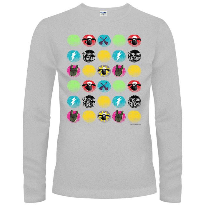 YOSHI850|笑笑羊正版授權【18 搖滾時光】長袖T-shirt (修身/中性)2種顏色
