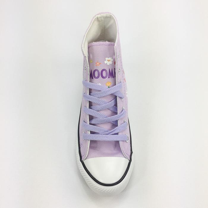 (複製)YOSHI850 Moomin嚕嚕米正版授權:帆布鞋【01 白鞋紅帶】