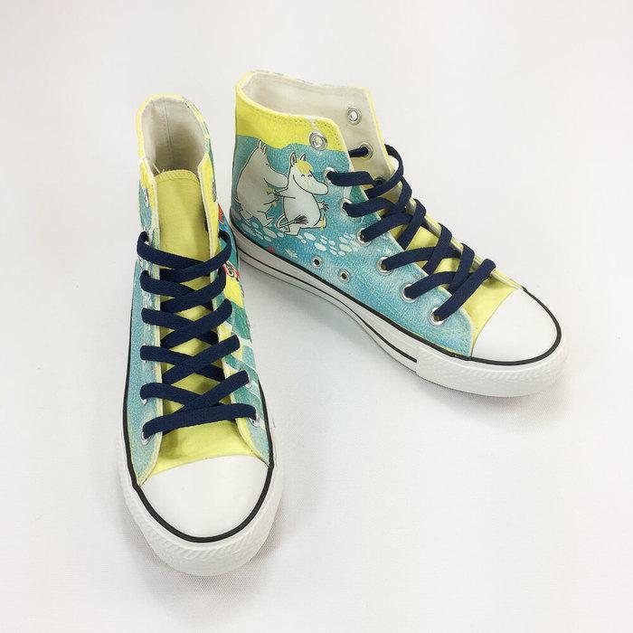 (複製)YOSHI850|Moomin嚕嚕米正版授權:帆布鞋【09粉鞋淺綠帶】