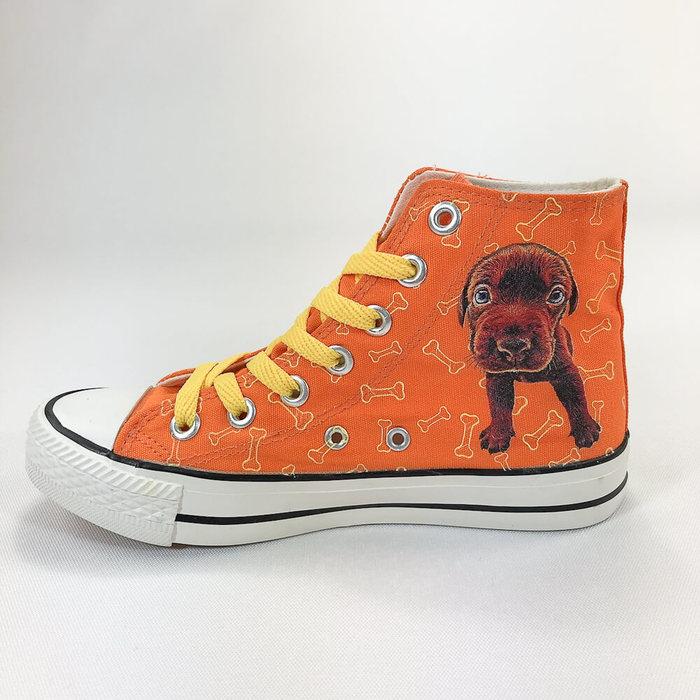 (複製)YOSHI850 新創設計師-人人商行The Dog:帆布鞋【02 黃鞋咖帶】