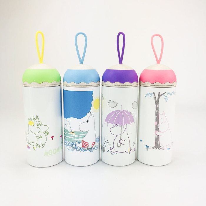 (複製)YOSHI850|Moomin嚕嚕米正版授權:木紋蓋保溫瓶(大-500ml)【03藍】