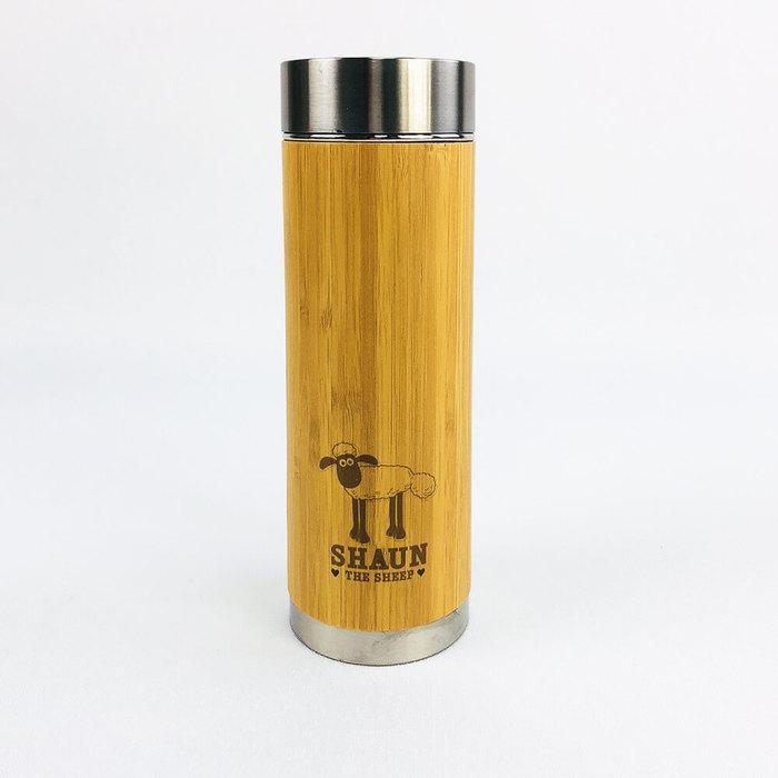 (複製)YOSHI850|Moomin嚕嚕米正版授權:木紋不鏽鋼保溫瓶(小-360ml)【01】