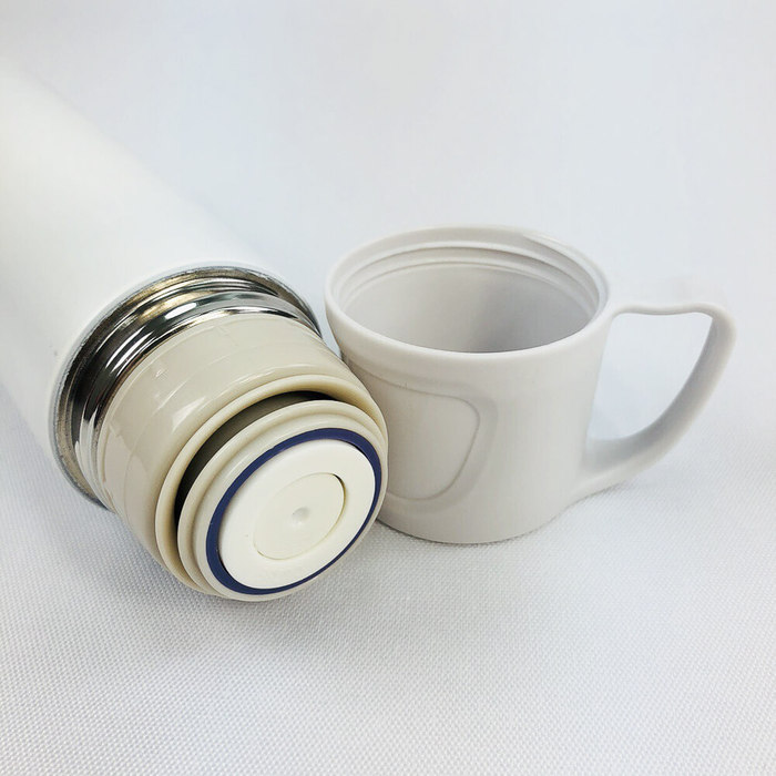 YOSHI850|Moomin嚕嚕米正版授權:木紋不鏽鋼保溫瓶(大-420ml)【01】