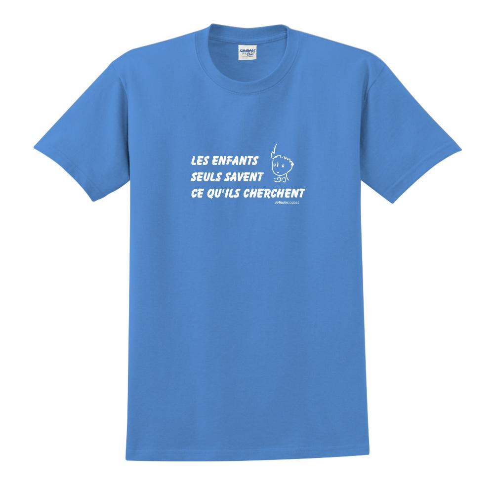YOSHI850|小王子經典版授權【只有小孩子知道他們在找甚麼】短袖中性T-shirt (寶石藍)