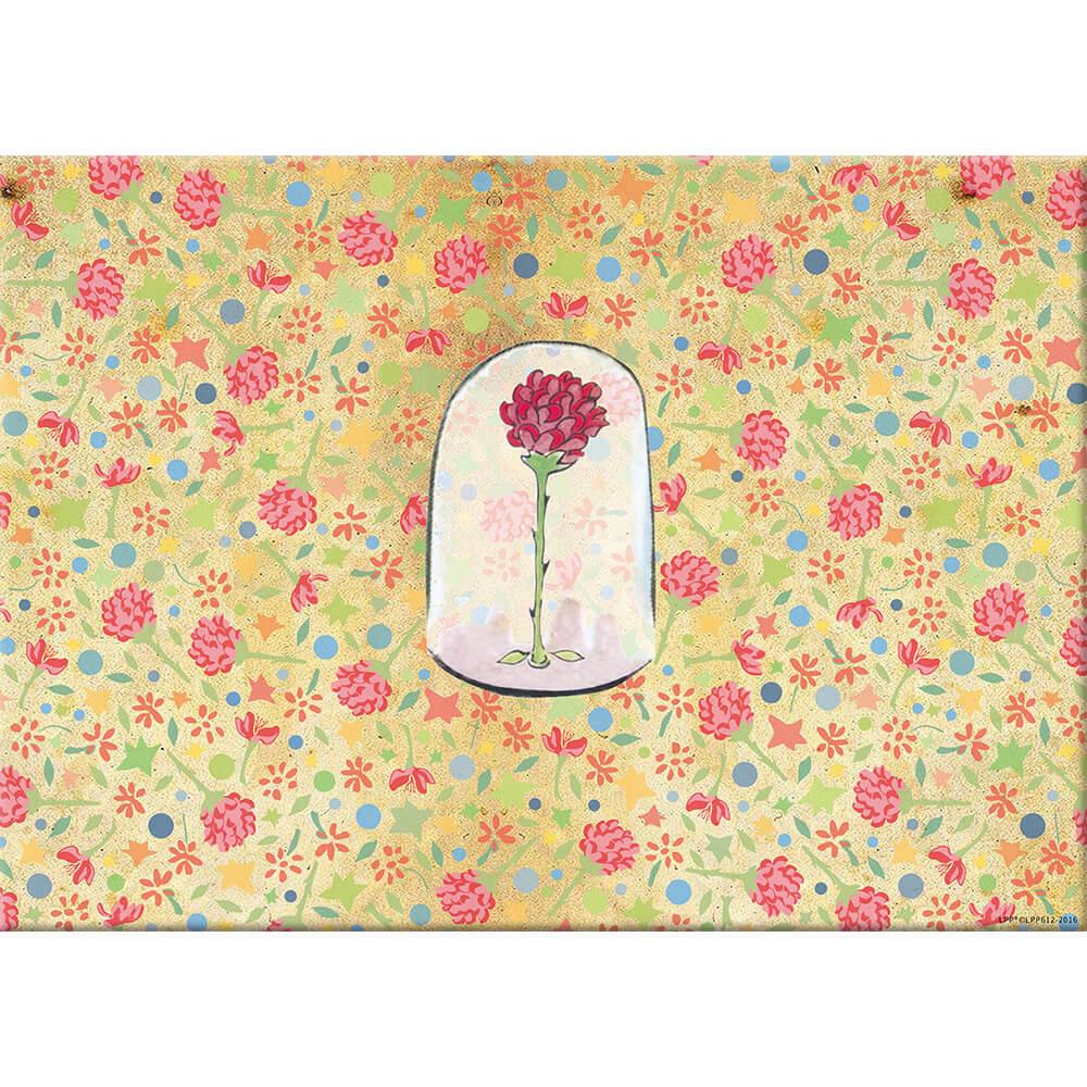 YOSHI850|小王子經典版授權:無框畫【玻璃罩裡的玫瑰花】30×40cm