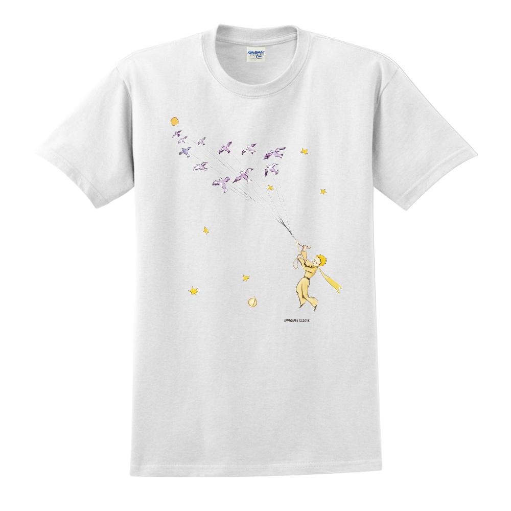 YOSHI850|小王子經典版授權【帶我去旅行】短袖中性T-shirt (白)