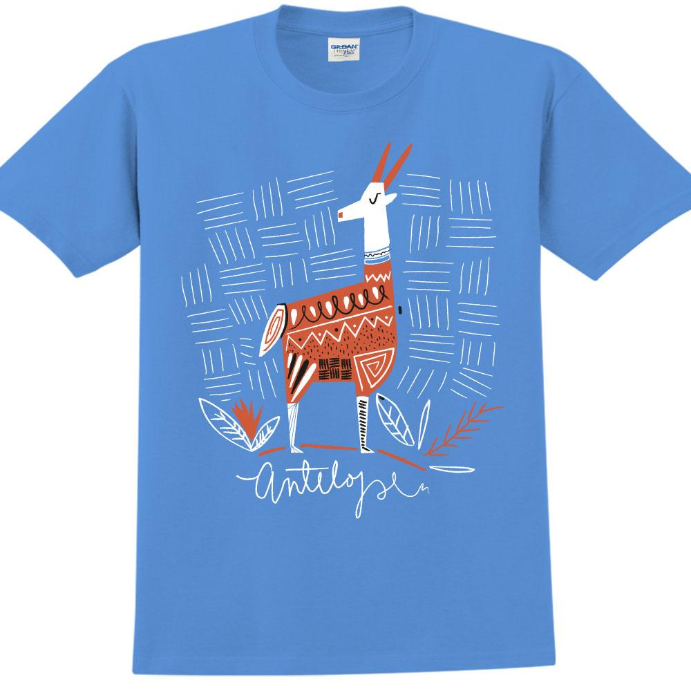 YOSHI850|新創設計師850 Collections【羊】短袖成人T-shirt (寶石藍)