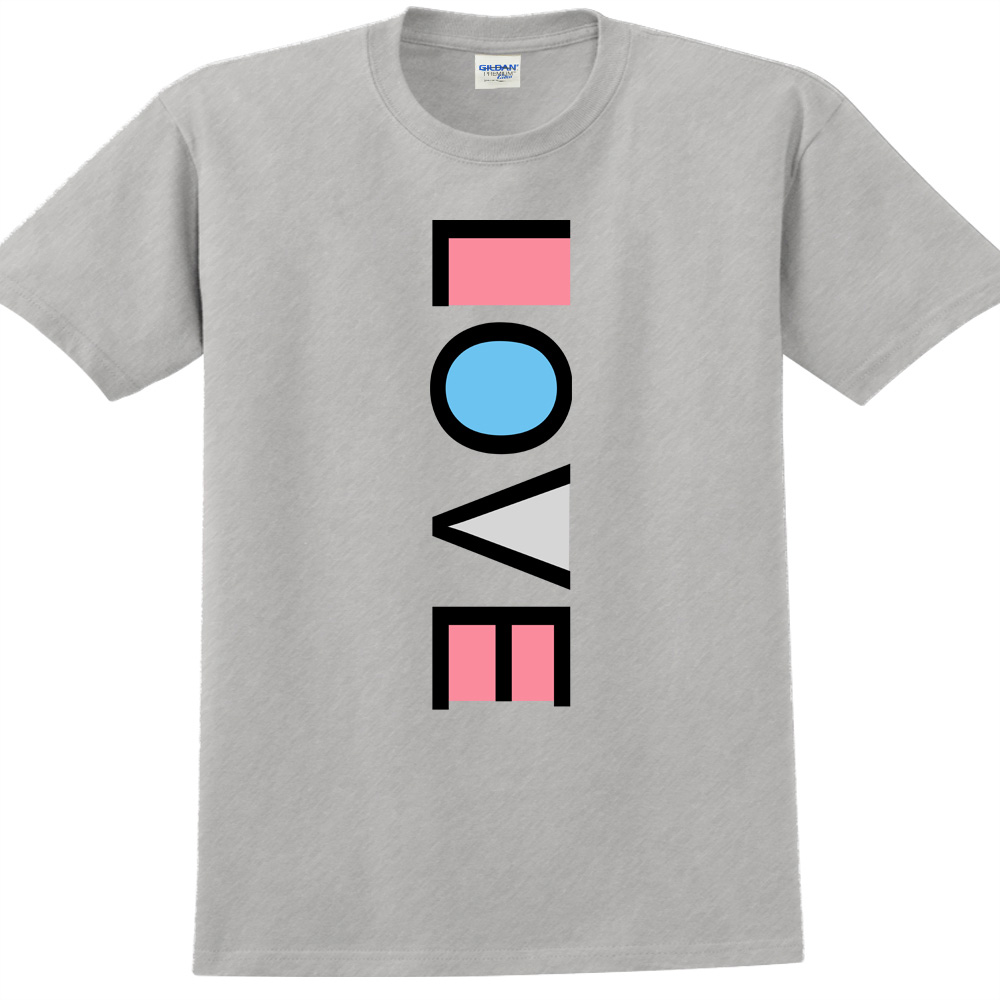 YOSHI850 新創設計師850 Collections【LOVE】短袖成人T-shirt (麻灰)