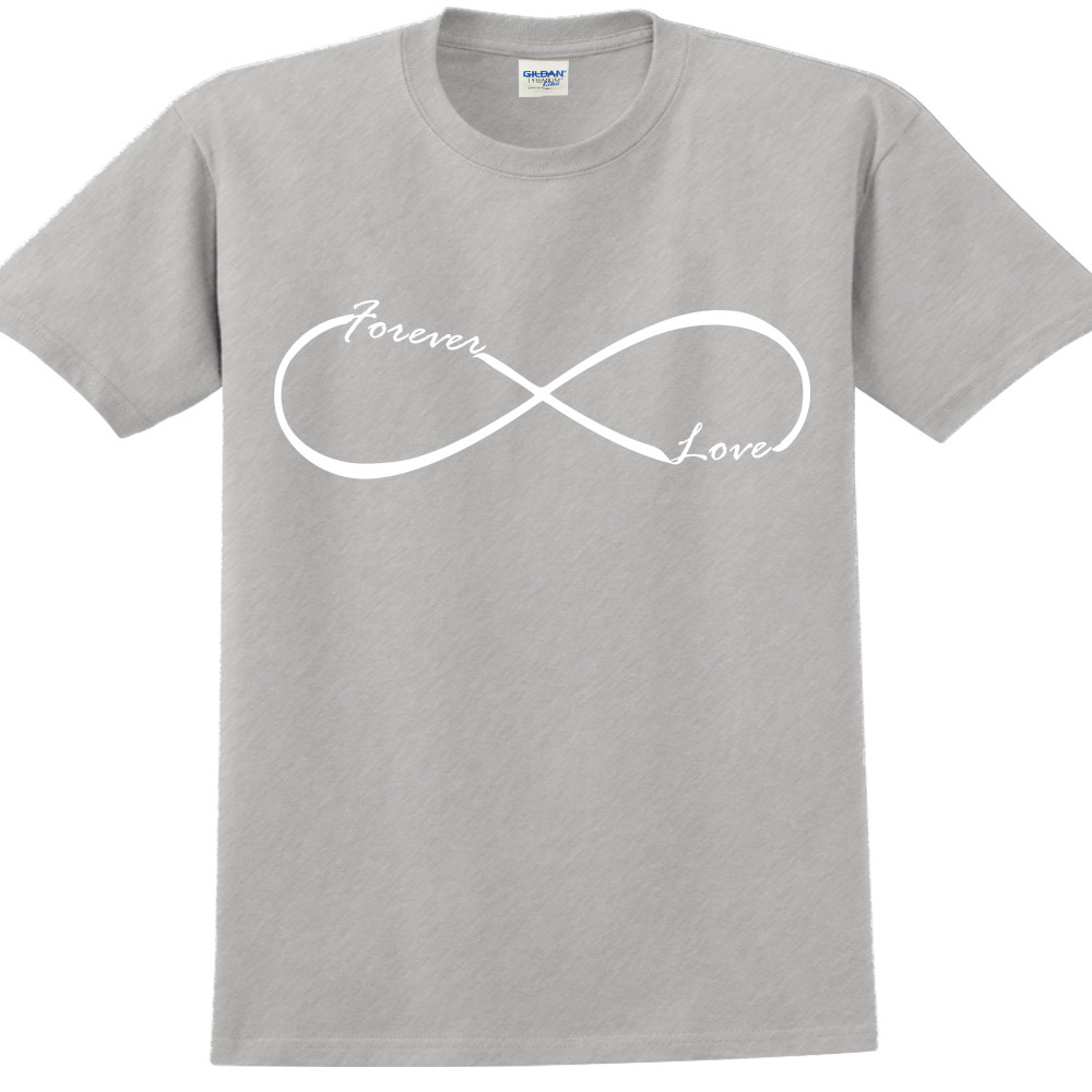 YOSHI850|新創設計師850 Collections【Forever Love】短袖成人T-shirt (麻灰)