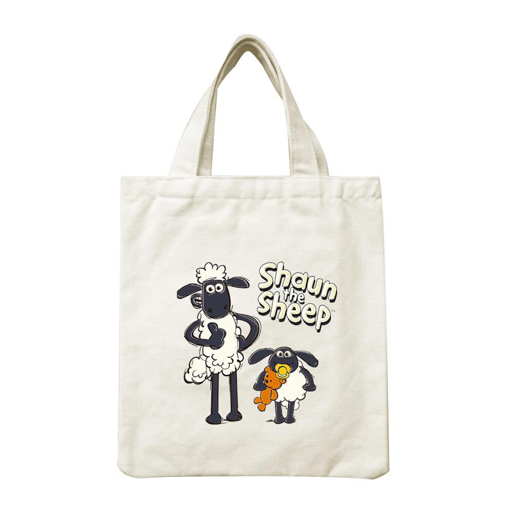 YOSHI850 笑笑羊正版授權Shaun The Sheep:小帆布包【疊疊樂 】