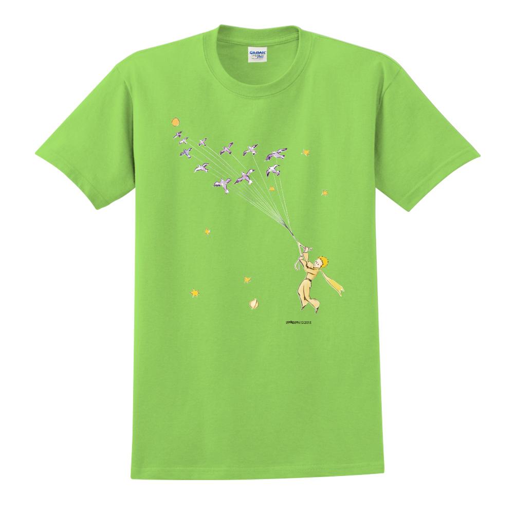 YOSHI850|小王子經典版授權【帶我去旅行】短袖中性T-shirt (果綠)