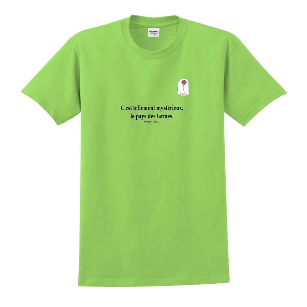 YOSHI850 小王子經典版授權【玻璃罩裡的玫瑰花】短袖中性T-shirt (果綠)