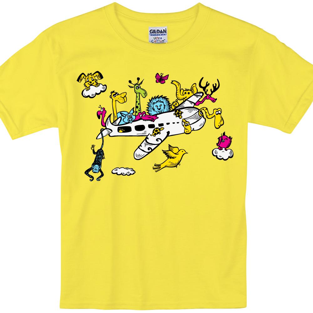 YOSHI850 新創設計師850 Collections【展翅翱翔】短袖兒童T-shirt (黃)