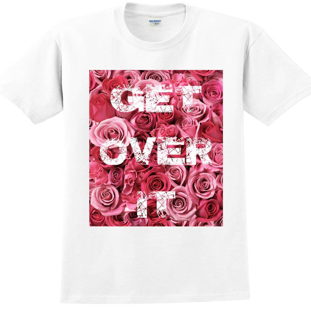 YOSHI850|新創設計師850 Collections【Get over it】短袖成人T-shirt (白)