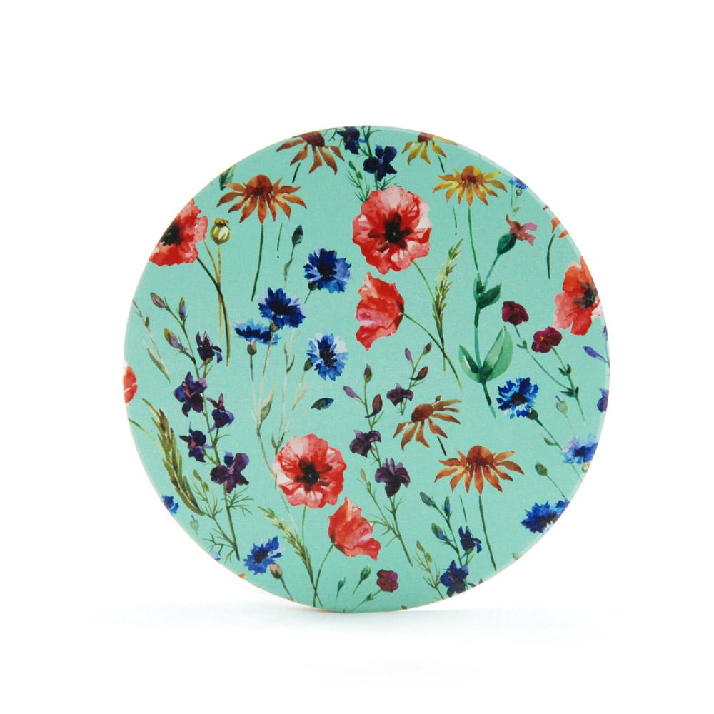 YOSHI850|新創設計師系列:吸水杯墊【老媽的花裙】850 Collections(方.圓)