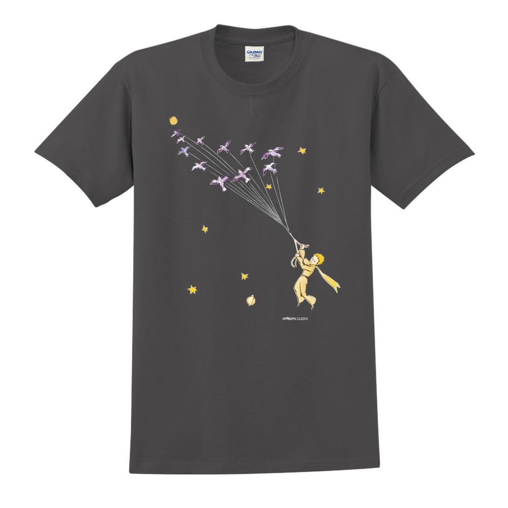 YOSHI850|小王子經典版授權【帶我去旅行】短袖中性T-shirt (黑)