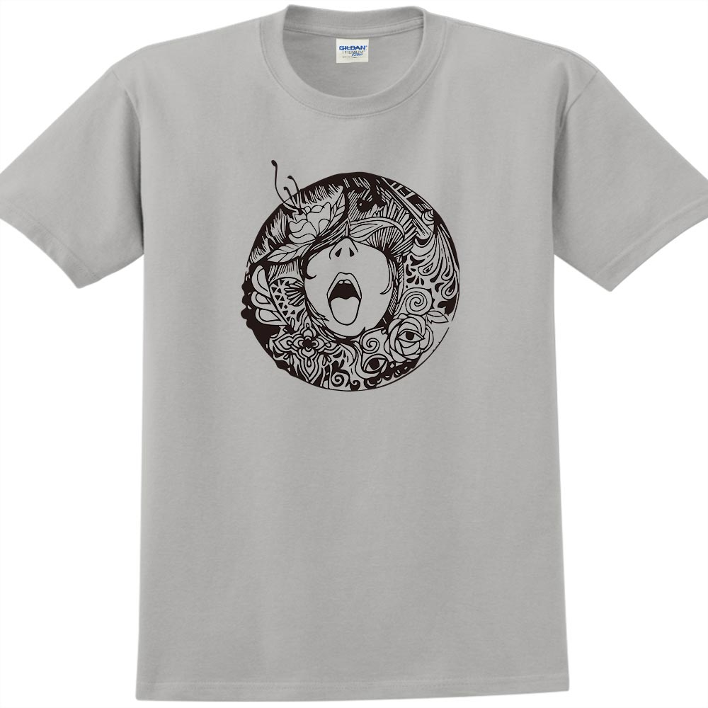 YOSHI850|新創設計師楊舒婷【吶喊】短袖成人T-shirt (麻灰/黑)