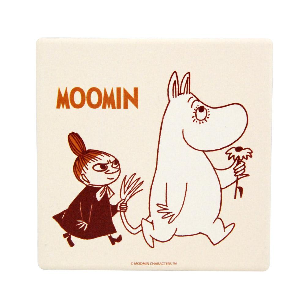 YOSHI850|Moomin嚕嚕米正版授權:吸水杯墊【跟屁蟲】(方.圓)