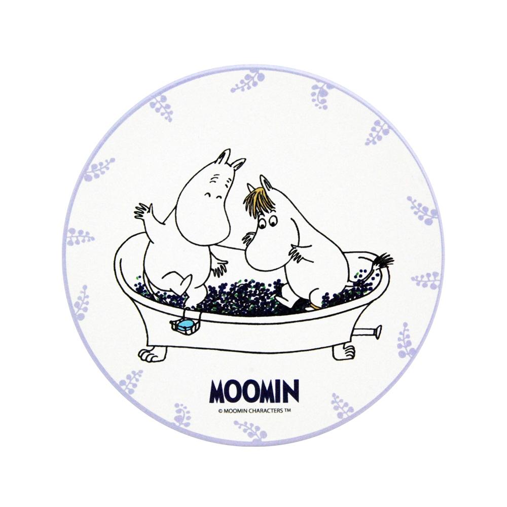 YOSHI850 Moomin嚕嚕米正版授權:吸水杯墊【果香浴缸】(方.圓)