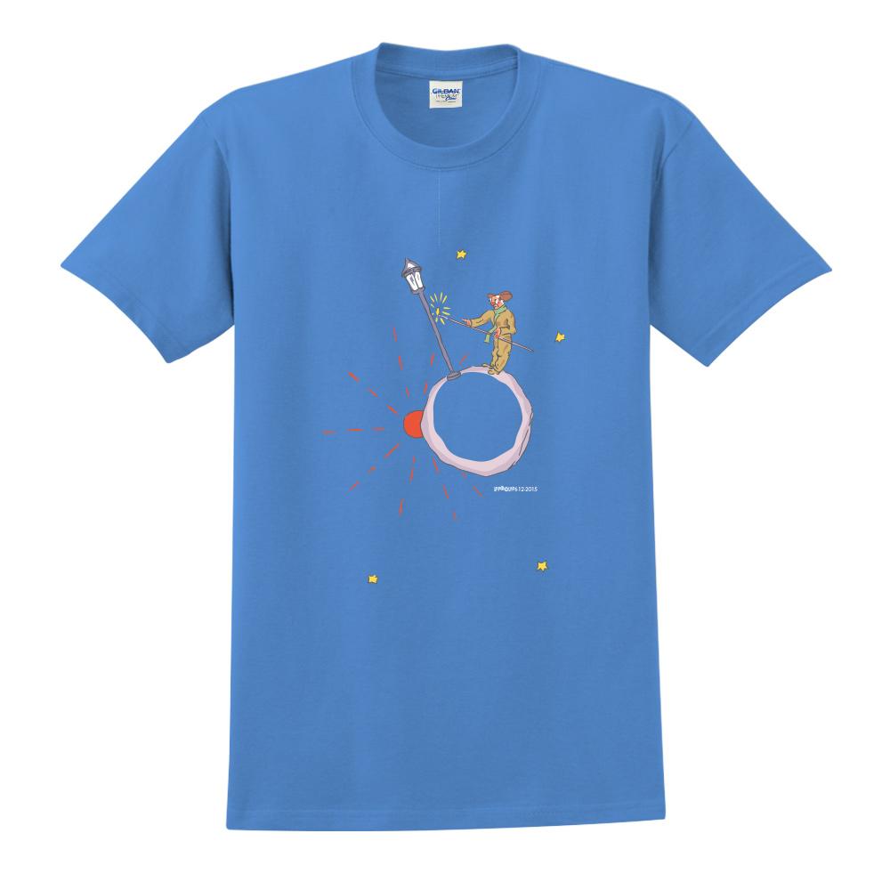 YOSHI850|小王子經典版授權【辛苦的燈夫】短袖中性T-shirt (寶石藍)