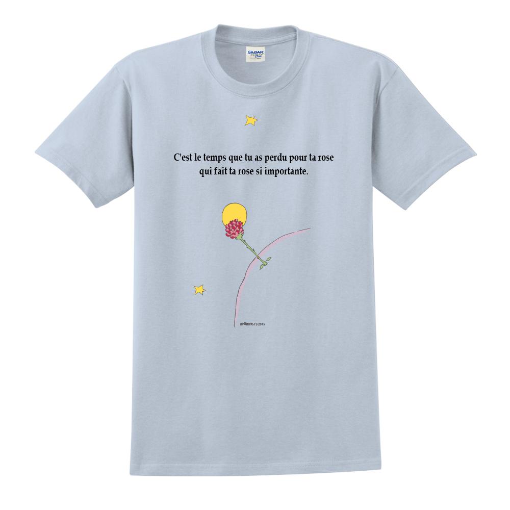 YOSHI850 小王子經典版授權【專屬愛情】短袖中性T-shirt (水藍)