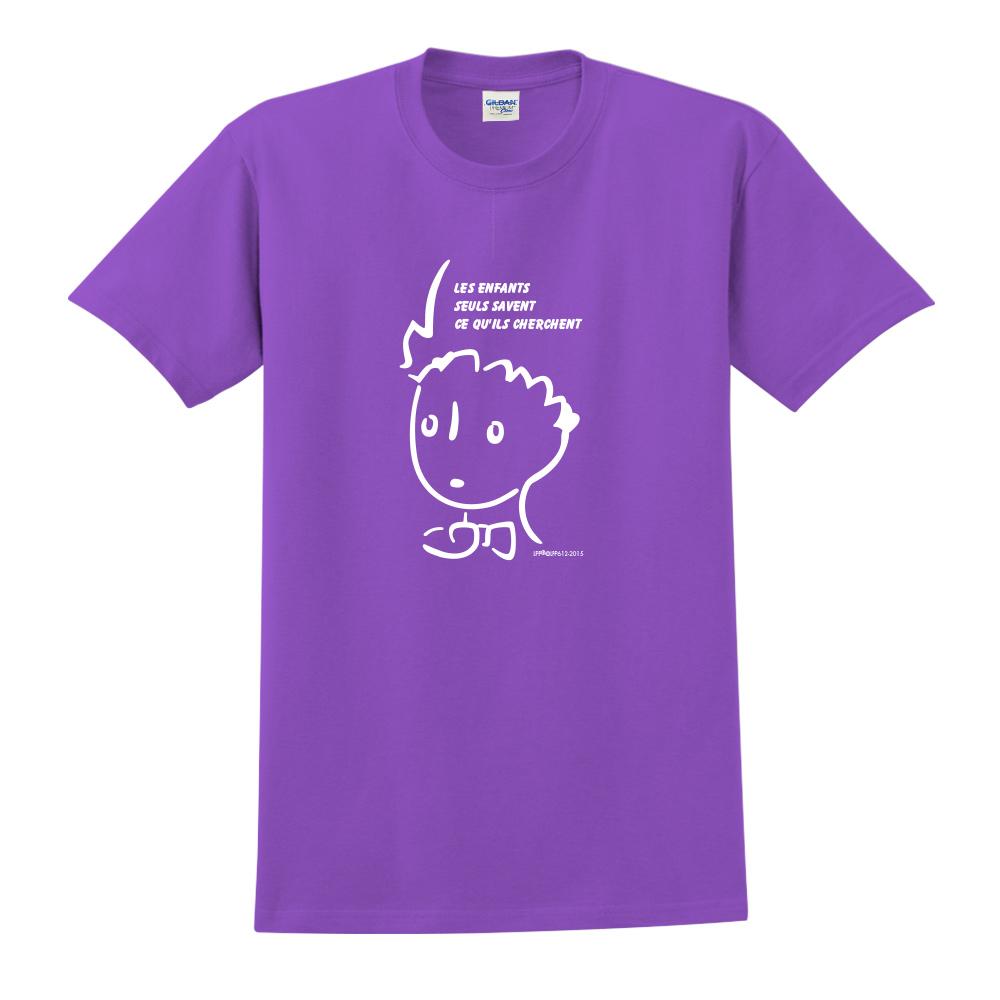YOSHI850|小王子經典版授權【奇怪的大人們】短袖中性T-shirt (紫)