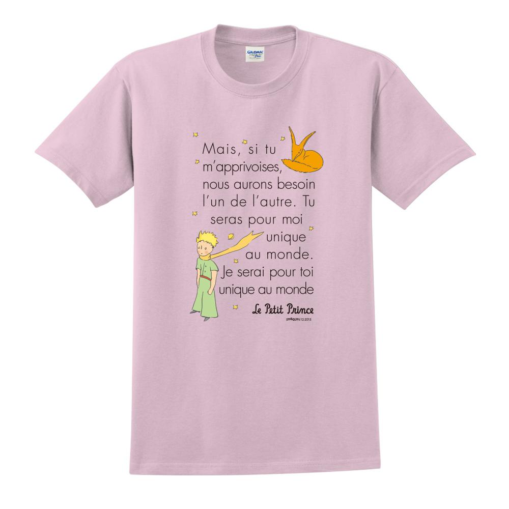 YOSHI850|小王子經典版授權【對我來說你是獨一無二】短袖中性T-shirt (粉紅)