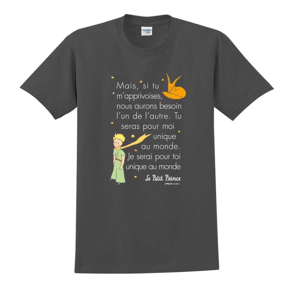 YOSHI850|小王子經典版授權【對我來說你是獨一無二】短袖中性T-shirt (黑)