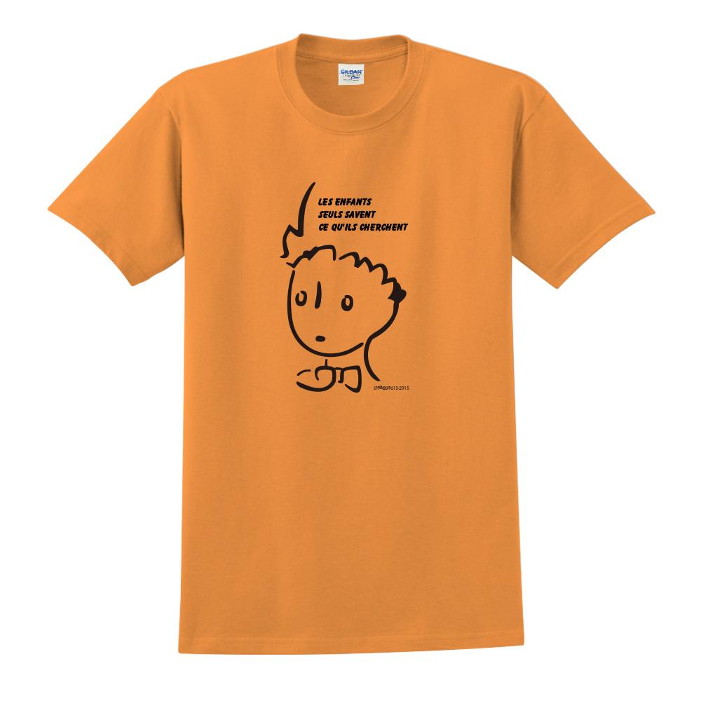 YOSHI850|小王子經典版授權【奇怪的大人們】短袖中性T-shirt (橘)