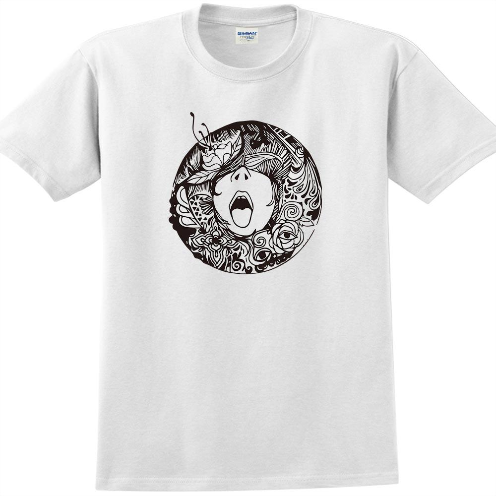 YOSHI850|新創設計師楊舒婷【吶喊】短袖成人T-shirt (白)