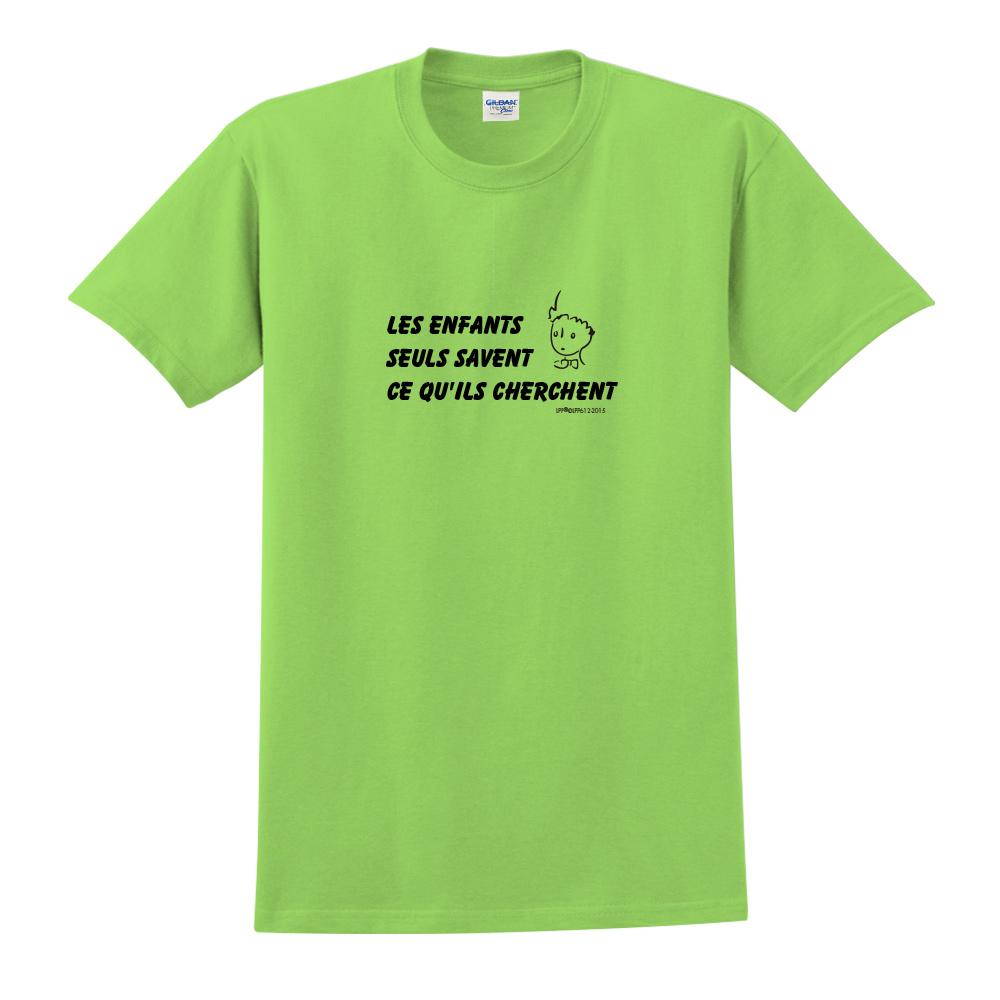 YOSHI850|小王子經典版授權【只有小孩子知道他們在找甚麼】短袖中性T-shirt (果綠)